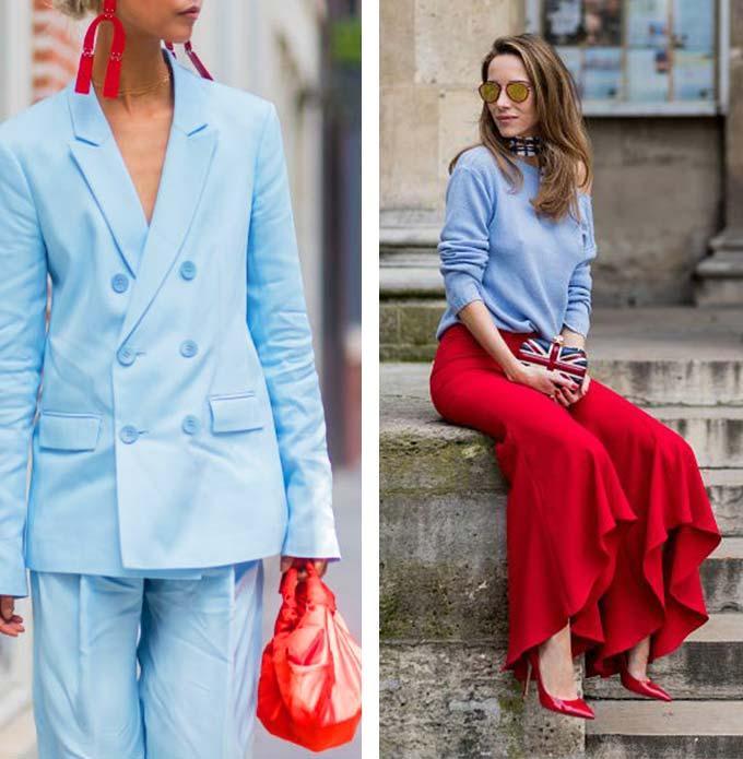 облики с голубой и красной одеждой