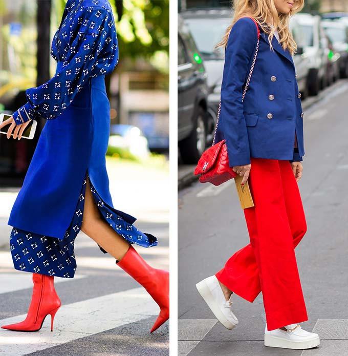 синий и красный - сочетание