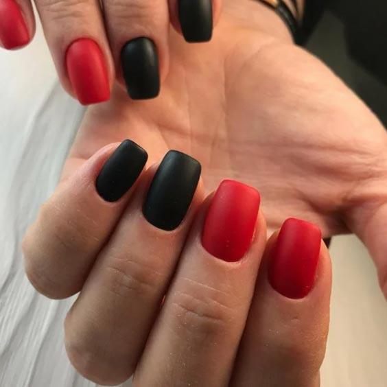 красный и черный