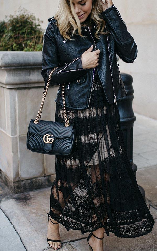 лук с кружевным платьем
