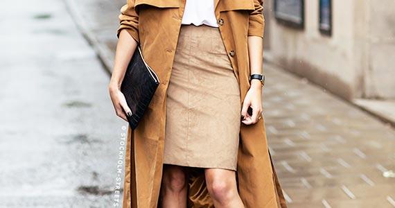 бежевая юбка-карандаш - с чем носить и сочетать