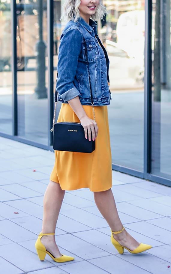 как подобрать обувь к платью и джинсовки
