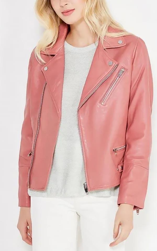 кораллово-розовая куртка