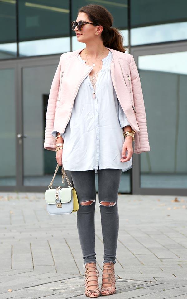 комплект с серыми джинсами