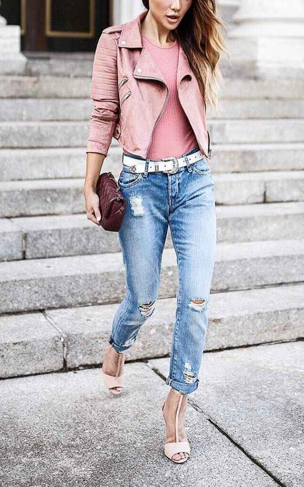 аутфит с джинсами