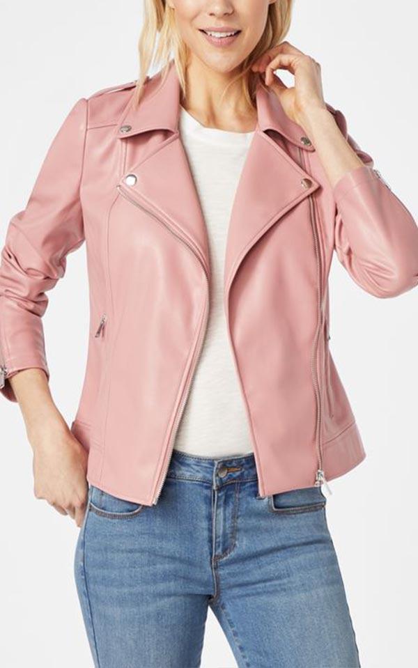 приталенная розовая куртка