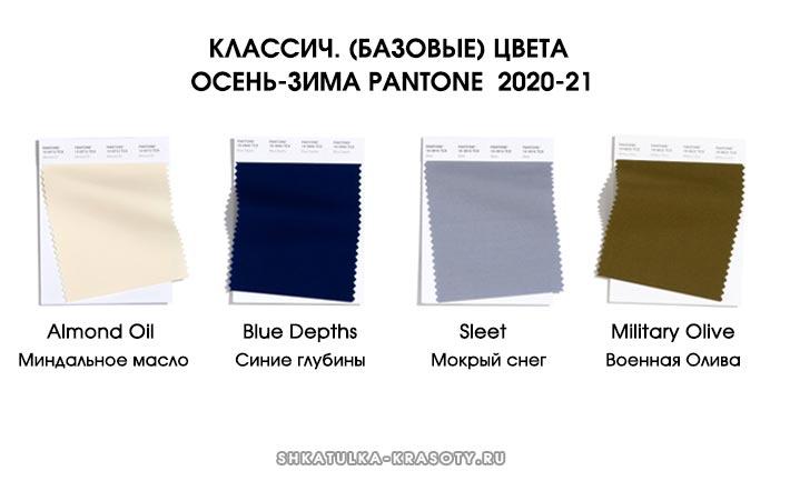 Модные базовые цвета осень зима 2020-2021 в одежде
