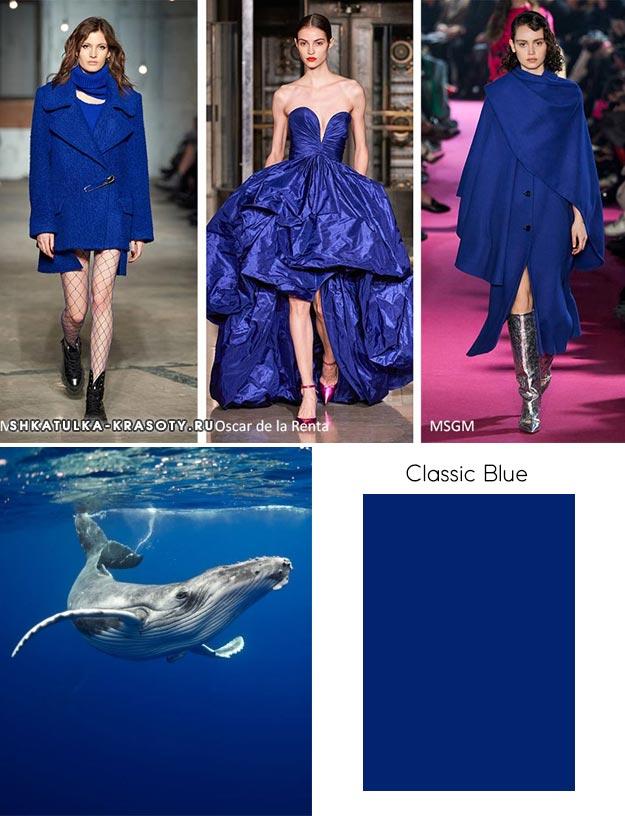 Pantone осень / зима 2020-2021 Цветовые тренды: классический синий