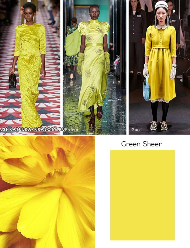 Pantone осень / зима 2020-2021 Цветовые тенденции: зеленый блеск