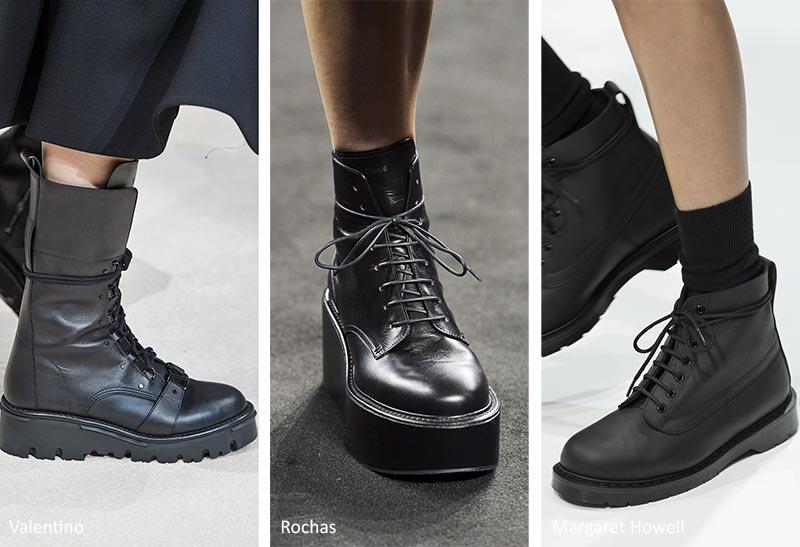Осень / Зима 2020-2021 Тенденции обуви: Боевые сапоги