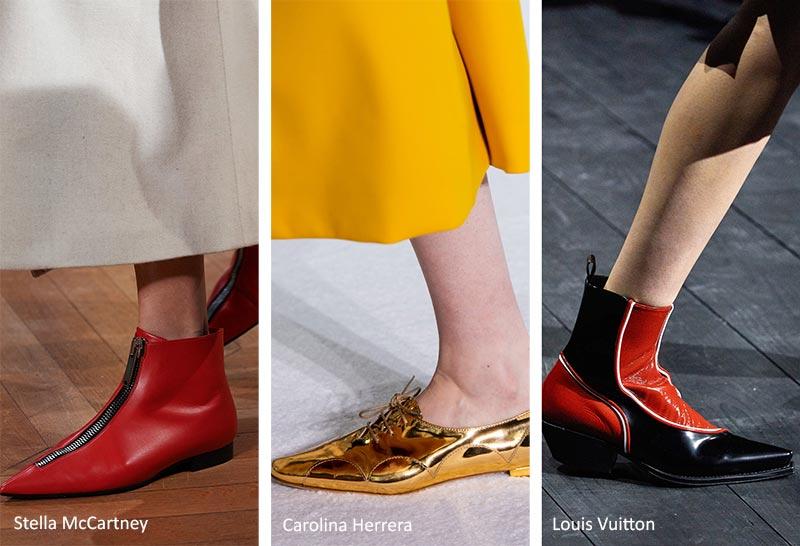 Модная обувь осень-зима 2020-2021: Туфли на плоской подошве