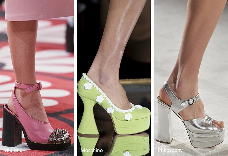 Осень / Зима 2020-2021 Тенденции обуви: каблуки на платформе