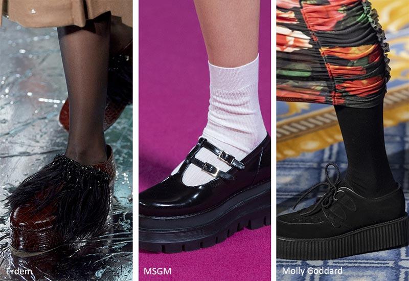 Тенденции обуви для осени и зимы: Плоские формы