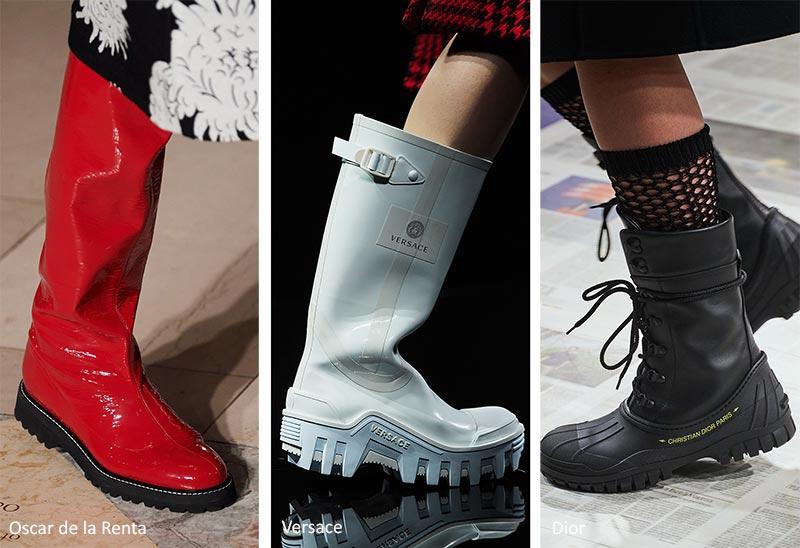 Модная обувь осень-зима 2020-2021: Прочные Ботинки Подошвы