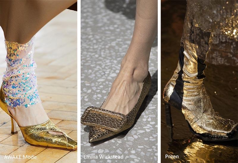 Золотые туфли и сапоги