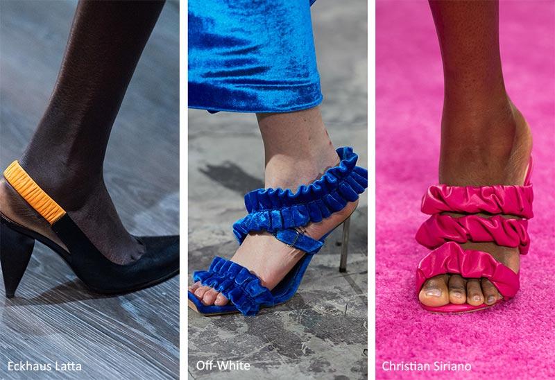 туфли с рюшами