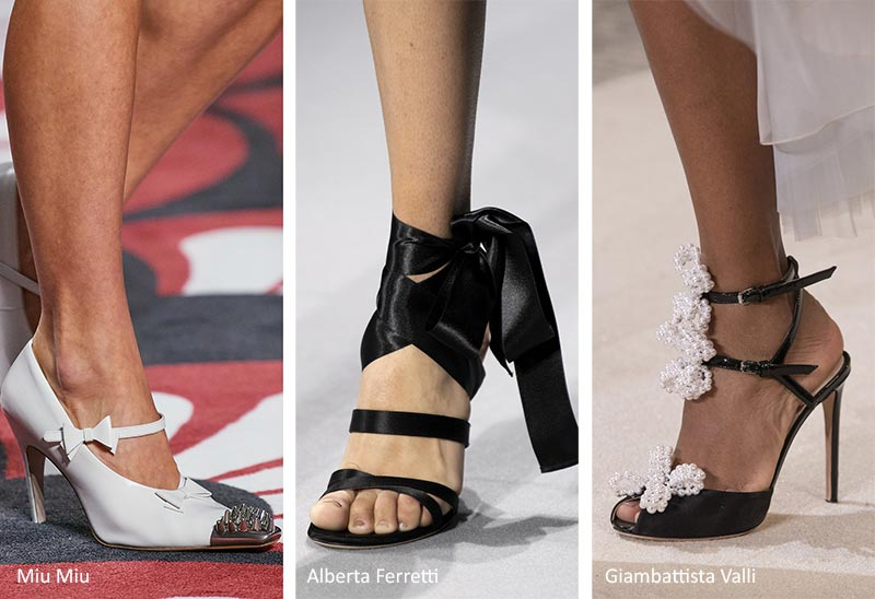 обувь с бантами и лентами