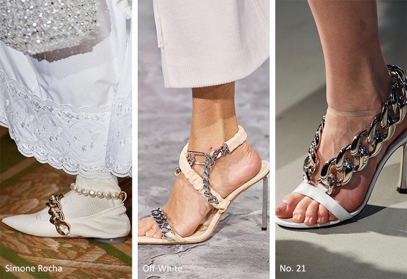 Осень / Зима 2020-2021 Тенденции: Обувь с Цепями