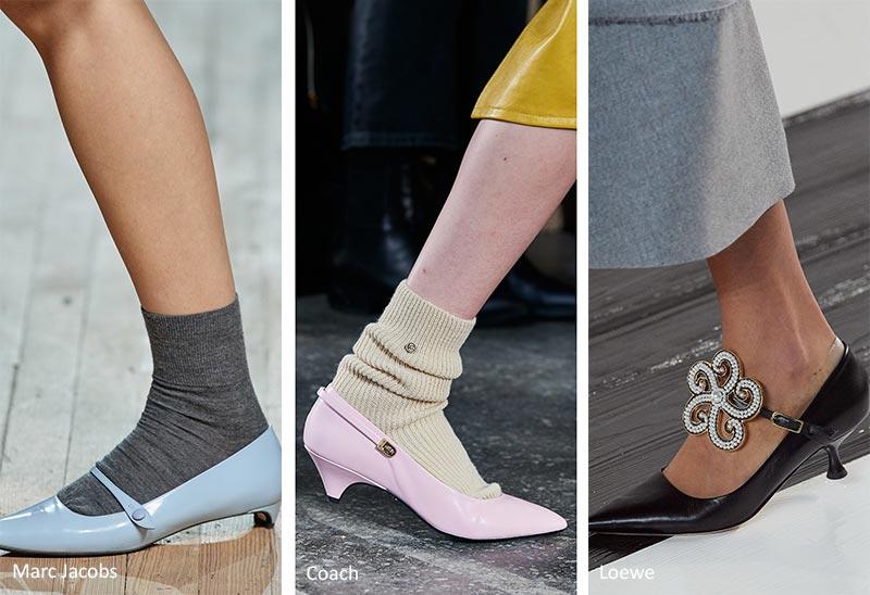 Осень / Зима 2020-2021 Тенденции обуви: винтажные