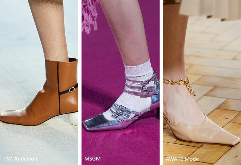 Модная обувь осень-зима 2020-2021: квадратный нос