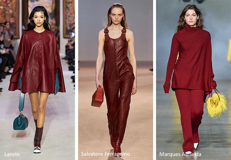 Осень / Зима 2020-2021 Цветовые Тренды: Обожженный Кирпичный Красный