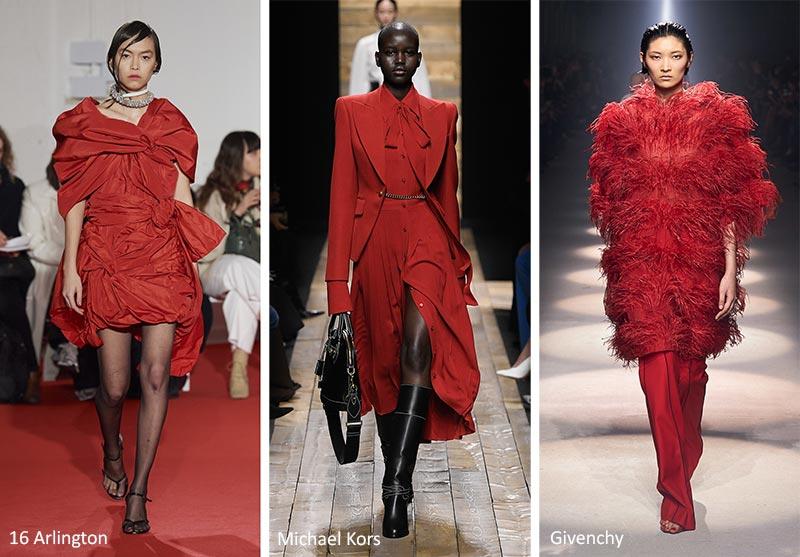Осень / Зима 2020-2021 Цветовые Тренды: Samba Red