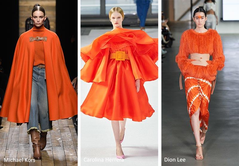 Модные тренды цвета 2020-2021 - оранжевое изобилие