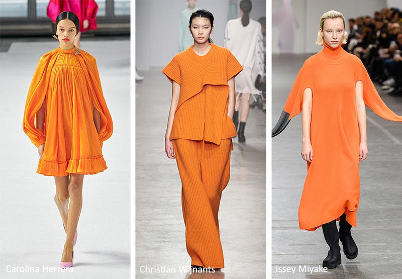 Модные тренды цвета 2020-2021 - амба оранжевая