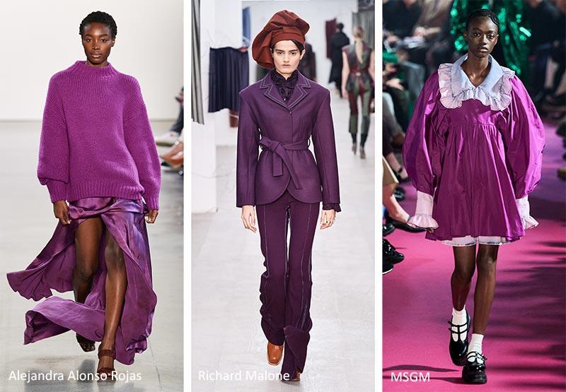 Модный цветовой тренд 2020-2021 - пурпурно-фиолетовый