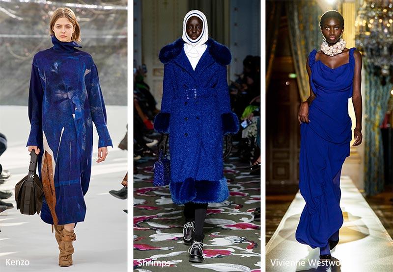 Цветовой тренд осень-зима 2020-2021 - настоящий, истинно синий