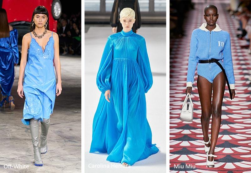 Модные тренды цвета осень-зима 2020-2021 - пудровый синий