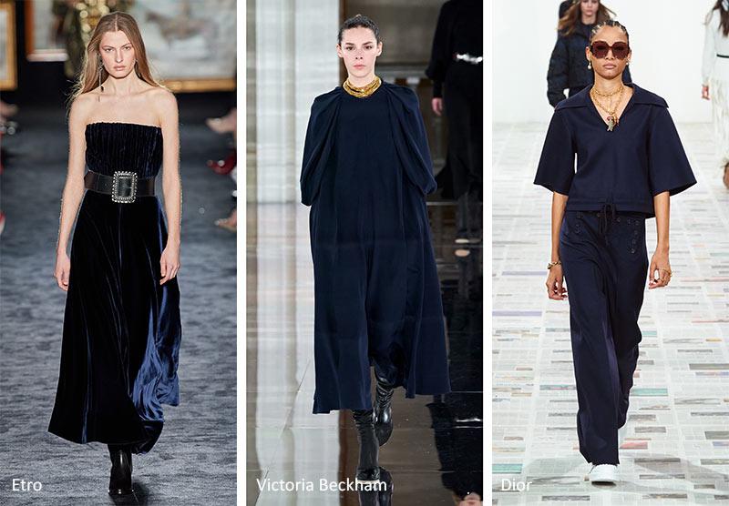 Осень / Зима 2020-2021 Цветовые Тренды: Платье Голубое