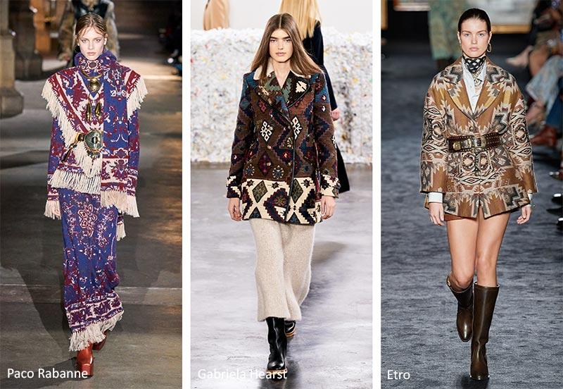 Модные принты Осень / Зима 2020-2021: гобелены и ковры