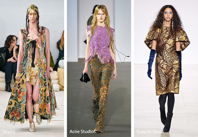 Модные принты осень-зима 2020-2021: Флер де Лис и винтажные цветочные узоры