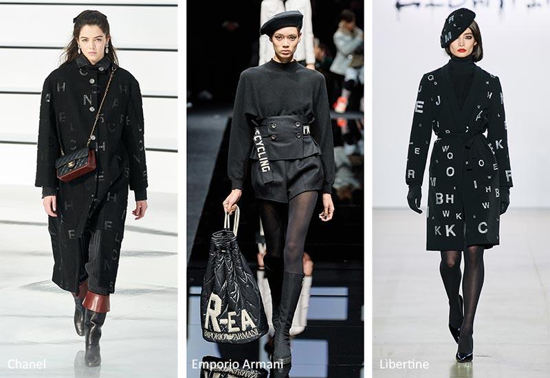 Модные принты Осень-Зима 2020-2021: Шаблоны слов и букв