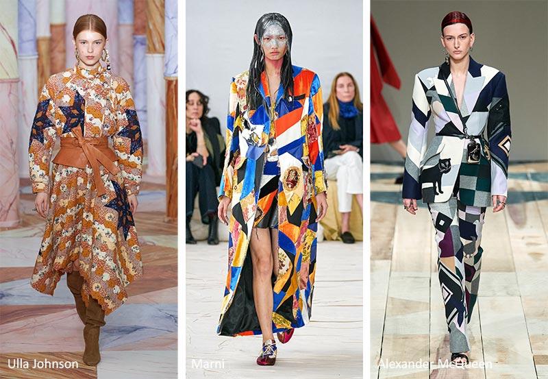 Модные принты Осень-Зима 2020-2021: пэчворк