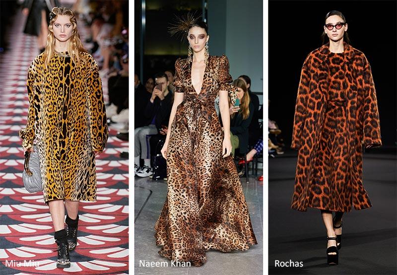 Осень / Зима 2020-2021 Тенденции печати: леопардовые узоры