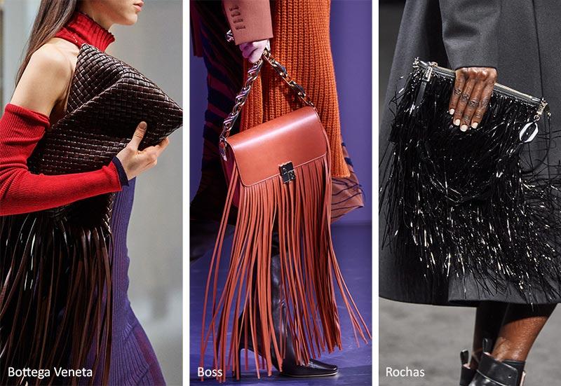 Модные сумки осень-зима 2020-2021 - с бахромой