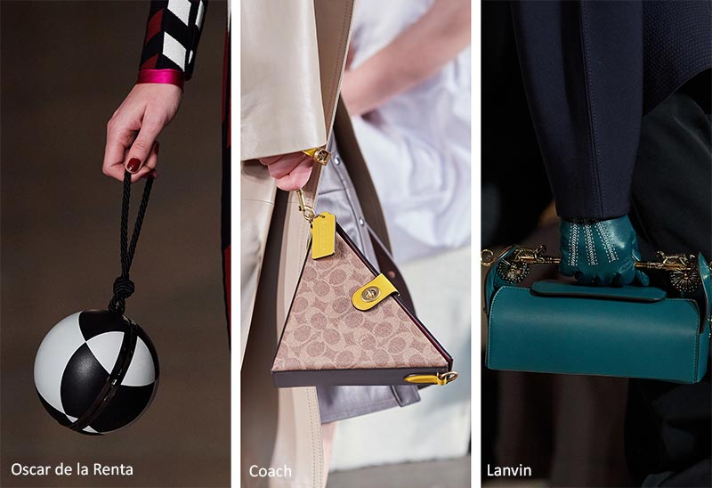 Модные сумки осень-зима 2020-2021 - геометрические