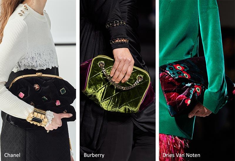 Сумочка осень / зима 2020-2021 Тенденции: Бархатные сумки