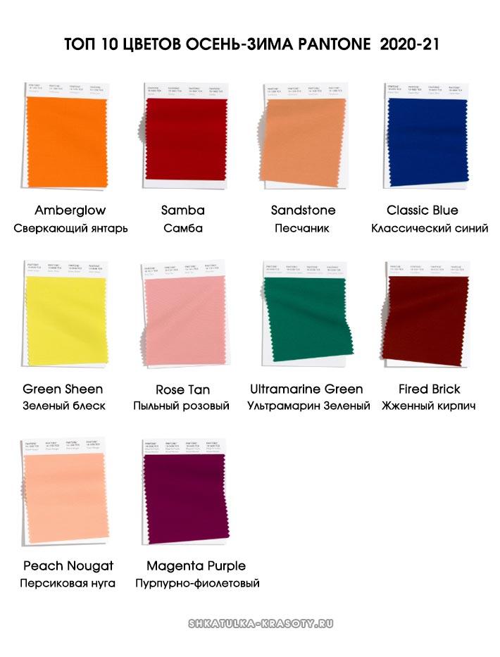 Модные цвета осень зима 2020-2021 в одежде