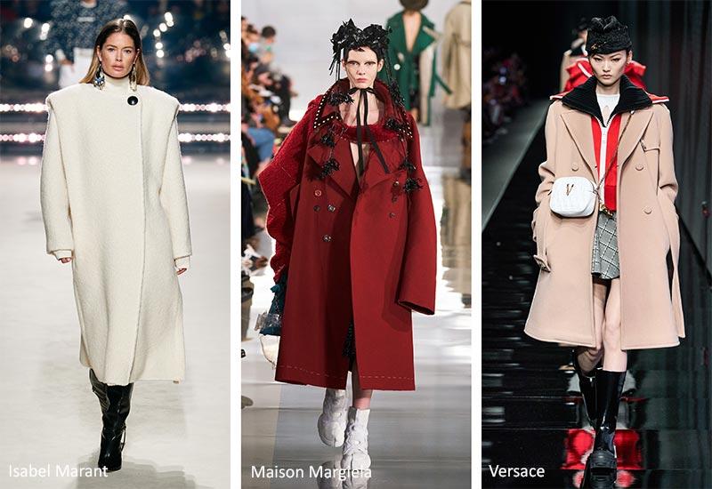 Осень / Зима 2020-2021 Модные тренды: большие пальто