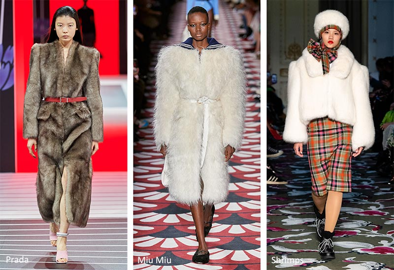 Осень / Зима 2020-2021 Модные тренды: шубы из искусственного меха