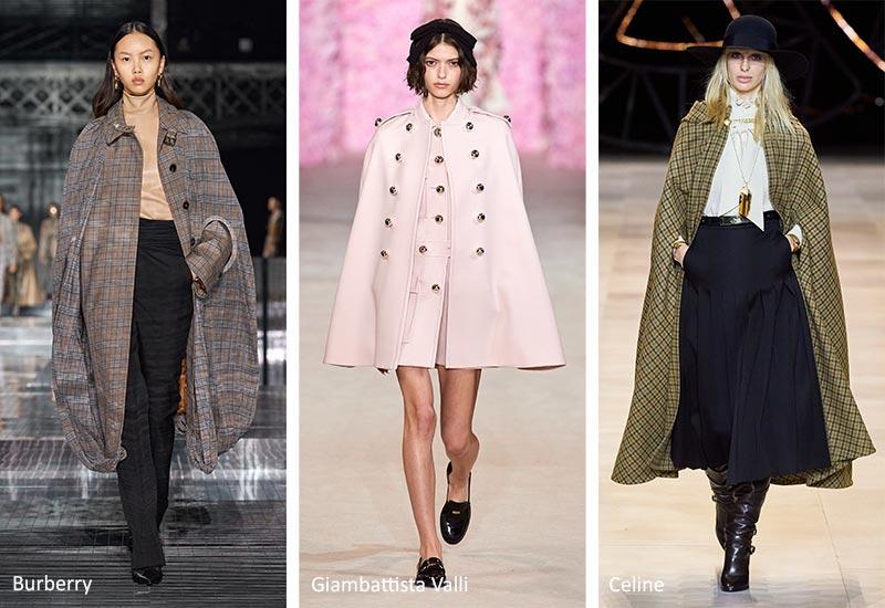 Модные тенденции осени-зимы Накидки и плащи