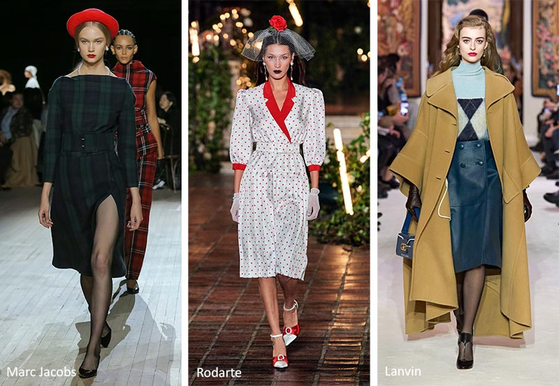 Тенденции моды осень-зима 2020-2021: мода 40-х годов