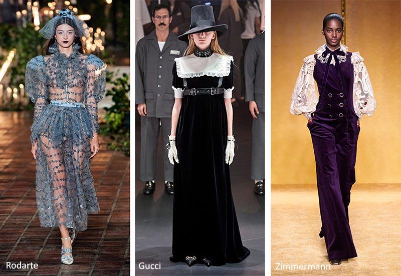 Осень / Зима 2020-2021 Модные тенденции: викторианские вырезы