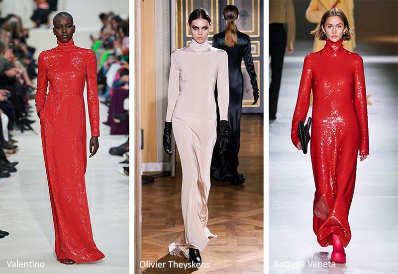 Модные тенденции: длинные, облегающие платья