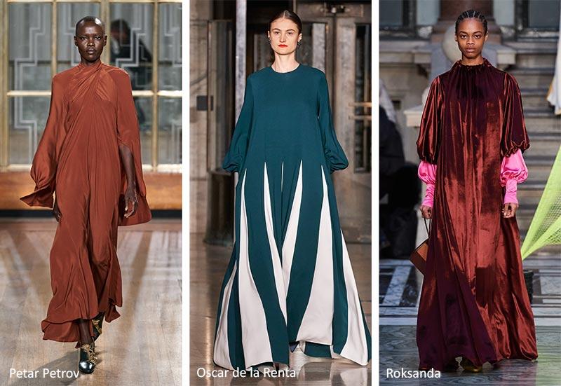 плавные, скромные платья