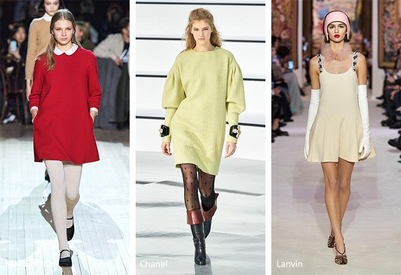 Осень / Зима 2020-2021 Модные тенденции: короткие, свободные платья