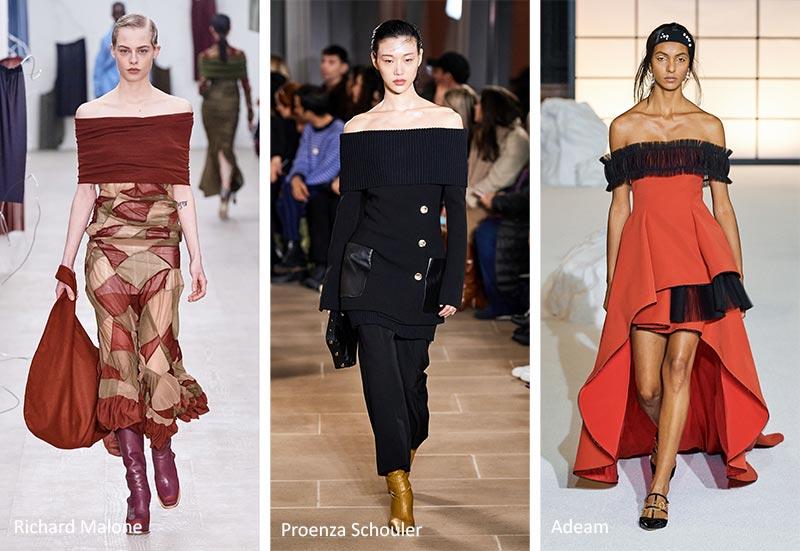 Осень / Зима 2020-2021 Модные тренды: открытые плечи